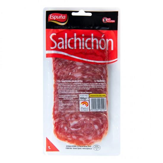 Salchichón Cular lonja Espuña paquete 100gr