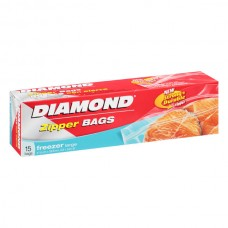 Bolsa Resellable Grande para Congelar 15 Bolsas Diamond