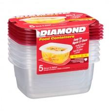 Recipiente Plastico Sopa y Ensalada 6 uds Diamond