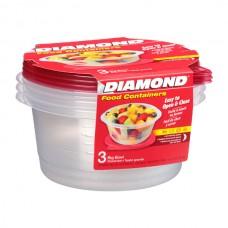RECIPIENTE PLASTICO DIAMOND 64oz 3 RECIP/PLATO HONDO