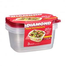 Recipiente Plástico Tazon Grande 6 uds Diamond