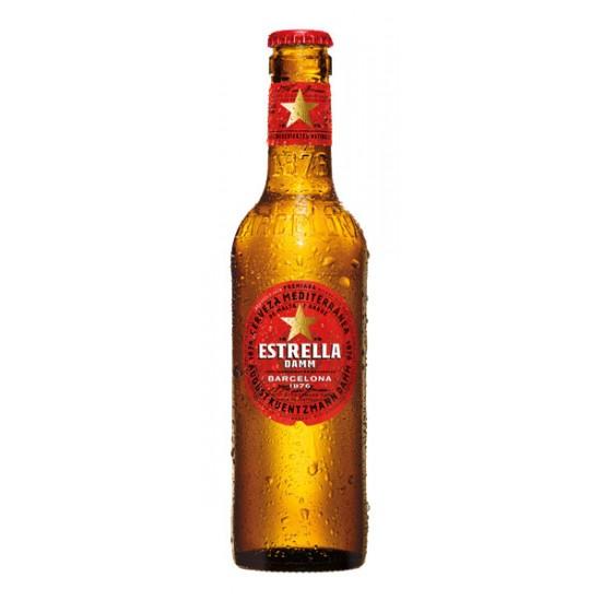 Cerveza Lager Estrella Damm Botella 330 ml