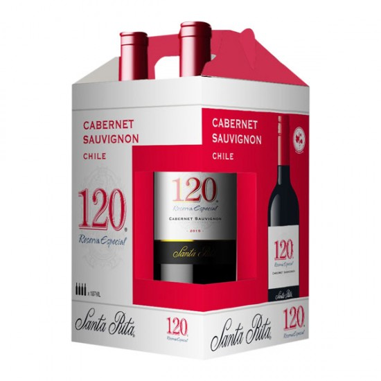 4 PK Vino Santa Rita 120 Reserva Tinto Cabernet Sauvignon  187 ml