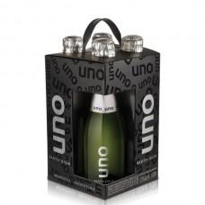 4 PK Vino Santa Julia Uno Blanco Espumoso Brut 187 ml