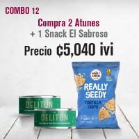 Combo Atún con vegetales Delitún+Multigrano El Sabroso