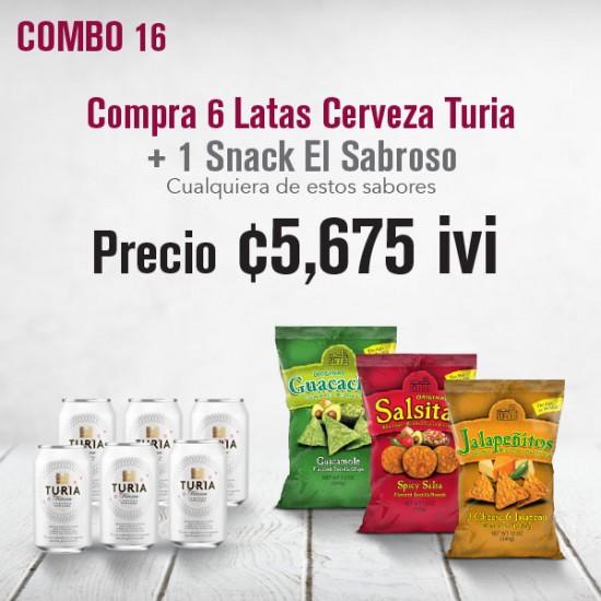 Combo cerveza Turia+ Snack El Sabroso