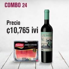 Combo vino Hey Malbec+jamón serrano Espuña